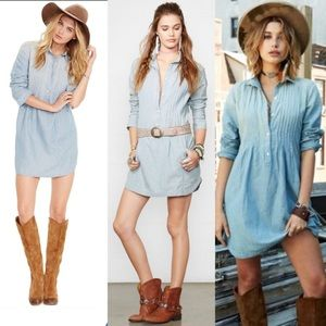Denim & Supply pintucked chambray dress